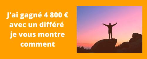 J'ai gagné 4 800 € avec un différé d'1 an. Je vous explique comment j'ai gagné autant.