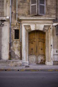 Entrée d'un immeuble ancien