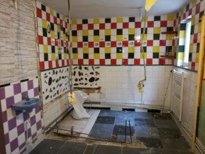 Salle de bain pendant les travaux de mon premier investissement immobilier
