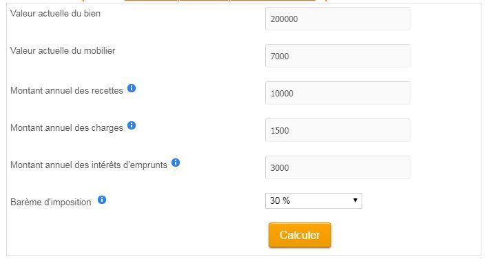 Simulateur LMNP régime Bic ou Réel Simplifié